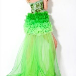 Jovani Dresses - Jovani High Low Lime Green Ombre Prom Dress 172201
